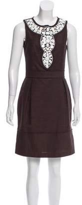 Milly Embellished Knee-Length Dress