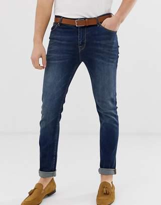 Asos Design DESIGN skinny jeans in dark wash