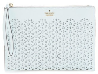 Kate Spade New York Cameron Street - Bella Leather Pouch - Blue $128 thestylecure.com