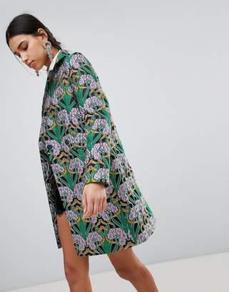Asos Design Jacquard Slim Coat