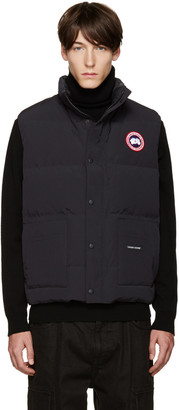 Canada Goose Navy Down Freestyle Vest $350 thestylecure.com