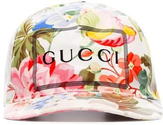 Gucci floral print logo baseball cap