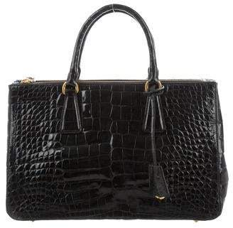 Prada Crocodile Medium Double Zip Tote 0f065a6774