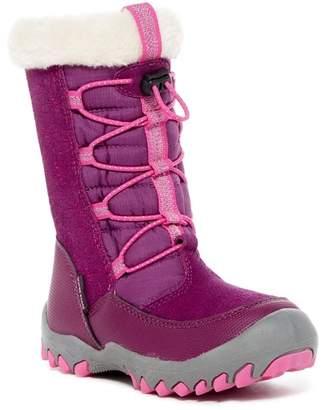M.A.P. Coraline Faux Fur Trimmed Lace Boot (Little Girls & Big Girls)
