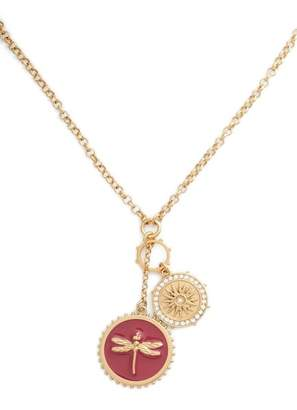 Vince Camuto Enamel Dragonfly Pendant Necklace