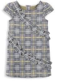Janie and Jack Little Girl's& Girl's Jacquard Plaid Ruffle Dress