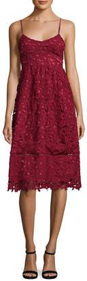 1st Sight 1St Sight Lace Sweetheart Midi Dress