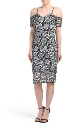 Juniors Cold Shoulder Lace Dress