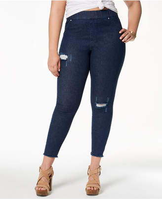 Hue Women's Plus Size Original Denim Ripped Knee, Created for Macy's