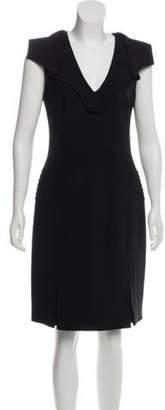 Blumarine Structured Knee-Length Dress Black Structured Knee-Length Dress