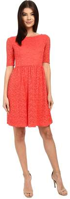 Jessica Simpson Lace Fit and Flair Dress Women's Dress