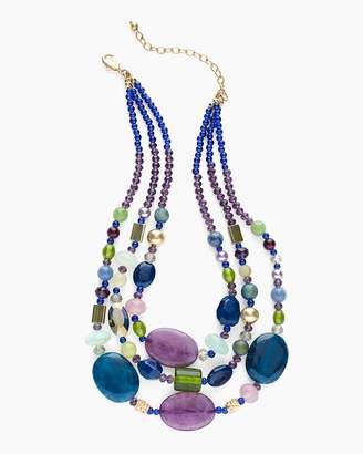 Cool Beaded Multi-Strand Necklace