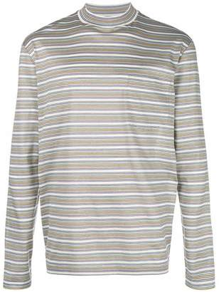 Lanvin striped crew neck sweatshirt