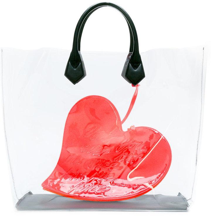 Vivienne WestwoodVivienne Westwood heart print tote bag