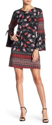 Angie Long Sleeve Knit Print Dress