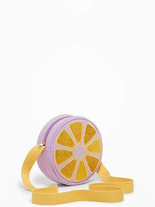 Old Navy Sueded Lemon-Graphic Circle Bag for Girls