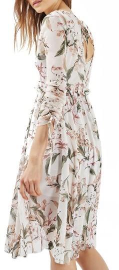Women's Topshop Lily Floral Mesh Dress 3