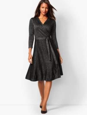 Talbots Merino Shimmer Wrap Dress