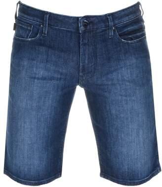 Giorgio Armani Emporio Slim Fit Denim Shorts Blue