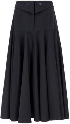 Palmer Harding Palmer/Harding Palmer//harding Fused Navy Stretch-wool Midi Skirt