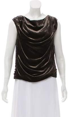 Nina Ricci Velvet Sleeveless Top
