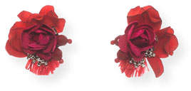 Ranjana Khan Scarlet Rose Stud Earrings