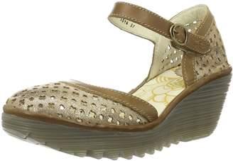 Fly London Womens Yadu732Fly Luna Camel Leather Sandals 39 EU