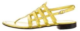 Barbara Bui Leather Metallic Sandals