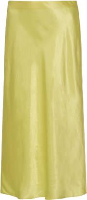 Vince Satin Midi Skirt Size: XS