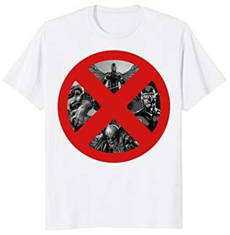Marvel X-Men Cyclops Wolverine Beast Archangel Logo T-Shirt