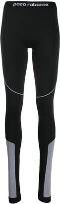 Paco Rabanne elastic waist logo leggings