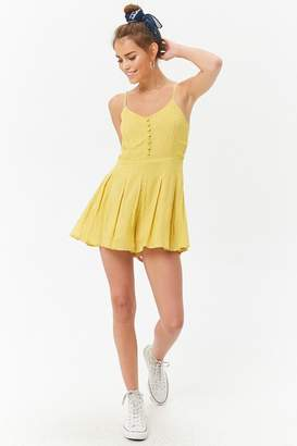 Forever 21 Pleated Cami Romper