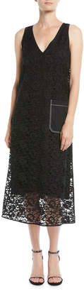 Joseph Margo Palermo Lace V-Neck Dress
