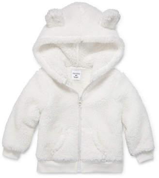 Okie Dokie Teddy Sherpa Full Zip Hoodie - Baby Girl NB-24M