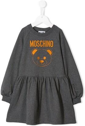 Moschino Kids logo print sweat dress