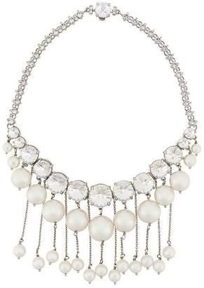 Miu Miu crystal and pearls necklace