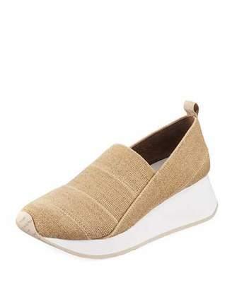 Donald J Pliner Piper Stretch Linen Slip-On Sneakers