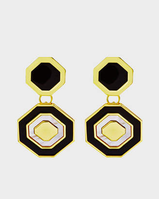 MOP Octagonal Drop Earring