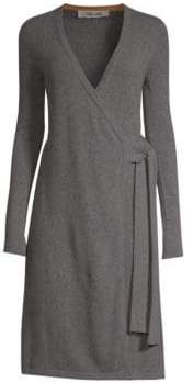 Diane von Furstenberg Knitted Wrap Cashmere Dress