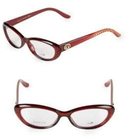 Gucci 55MM Oval Optical Glasses