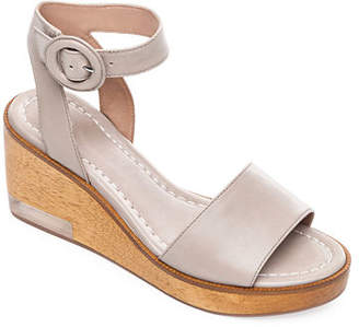 Bernardo Kate Wedge Ankle-Wrap Sandals