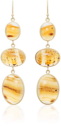 Kothari 18K Gold Agate Earrings