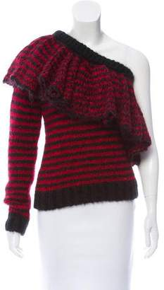 Philosophy di Lorenzo Serafini Striped One-Shoulder Sweater