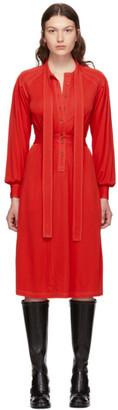 Burberry Red Haima Dress