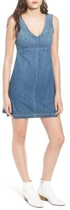 AG Jeans Dana Denim A-Line Minidress