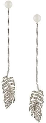 Axenoff Jewellery leaf drop earrings