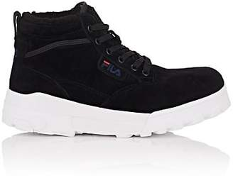 Fila Women's BNY Sole Series: Grunge Suede Ankle Boots - Black