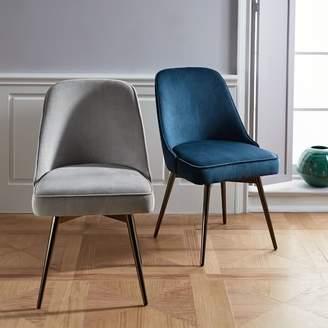 west elm Mid-Century Swivel Office Chair - Velvet