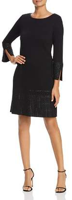 Nic+Zoe Tonal Stud Trim Dress