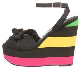 Charlotte Olympia Leather Platform Wedges
